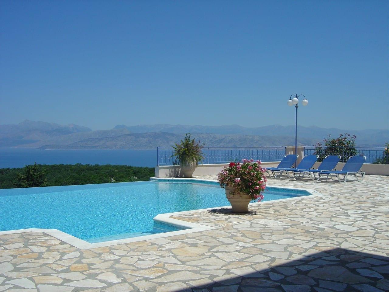 corfu villa private pool